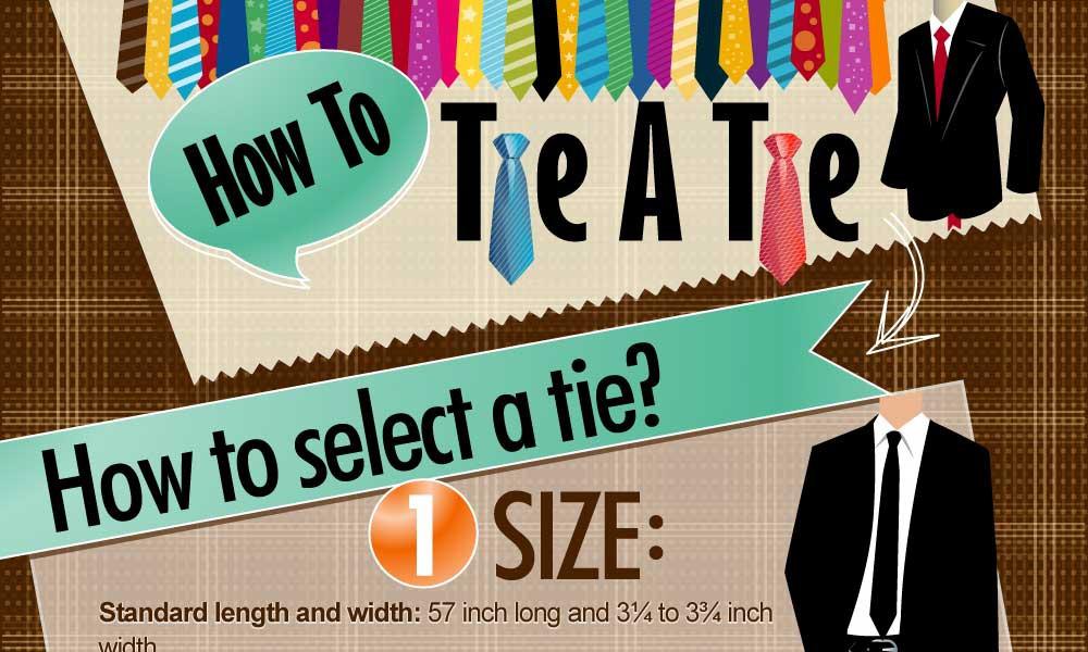 Anleitung Krawatte auswählen und richtig binden [Infografik]